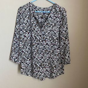 NYJD Chevron Print Blouse Size Medium